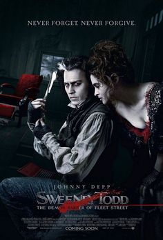 Sweeney Todd:  The Demon Barber of Fleet Street.  2007.  I like the addition of Helena Bonham Carter to this one.