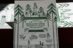 Paisley Quill: Style Me Pretty From Inspiration to Invitation Re-Cap Forest Wedding, Woodland Wedding, Dream Wedding, Chic Wedding, Save The Date Invitations, Wedding Invitations, Invites, Invitation Ideas, Campground Wedding