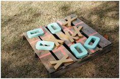 15 Wooden Pallet Wedding Ideas - outdoor wedding games wooden pallets make yourself - Outdoor Wedding Games, Wedding Reception Games, Outdoor Games, Wedding Backyard, Outdoor Weddings, Rustic Wedding Games, Romantic Backyard, Diy Wedding Games, Reception Decorations