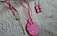BABY PINK Handmade Terracotta Jewelry simple and by Varnakala