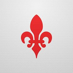 Sticker Fleur De Lis Logo Symbol waterproof Motorbike Action Durable Red (5 X 3.53 In) - Brought to you by Avarsha.com