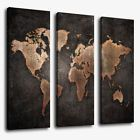 3 Pcs/Set World Map Modern Abstract Canvas Picture Print Wall Art Home Decor Living Room Canvas Prints, Framed Canvas Prints, Wall Art Prints, Wall Art Pictures, Canvas Pictures, Print Pictures, Modern Oil Painting, World Map Wall Art, Flower Canvas