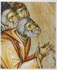 The frescoes of the cathedral Protata in Kars, Athos. Byzantine Icons, Byzantine Art, Life Of Christ, Russian Icons, Jesus Christus, Mosaic Art, Mosaics, Orthodox Icons, Sacred Art
