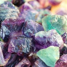 """Fluorite promotes spiritual and psychic wholeness and development, protection, and brings peace. It helps one meditate and learn to go past the """"chatter"""" that our minds tend to generate when first learning to meditate. Deeper meditation past the """"chatter"""" can give access to cosmic truth, attune to spirit guides or ani"""