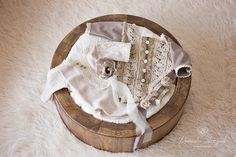 Newborn photography accessories  Newborn girl clothes. Claasic and elegant.