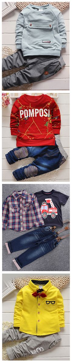 Dress up your little man warm during cool evenings. Discover the choice of baby boy summer / autumn 2-3 piece casual sporty set for cool weather. Click on the picture to shop them from USD 15.