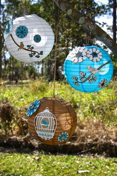 Hand decorated paper lanterns -