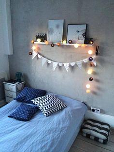 1000 images about l mparas decorativas en hilo on pinterest cotton ball lights happy lights - Cotton ballspractical ideas ...