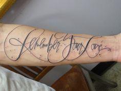 Tattoo font. Script. Beautiful!