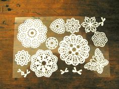 White Doilies Stickers by chickydoddle on Etsy, $2.50