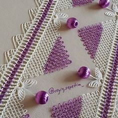 This Pin was discovered by cig Baby Knitting Patterns, Crochet Patterns, Needle Lace, Beading Projects, Diy Clothing, Beading Patterns, Crochet Stitches, Tatting, Needlework