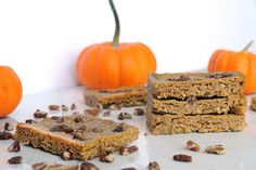 Little bars of chewy goodness baked around a pumpkin pie theme. A perfect treat for the whole family!
