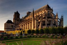 """See 84 photos and 2 tips from 1091 visitors to Bourges. """"Nice little town with a beautiful historic center. French Cathedrals, An American In Paris, Cathedral Basilica, Unique Buildings, The Beautiful Country, Paris Travel, France Travel, Chapelle, Most Beautiful Cities"""