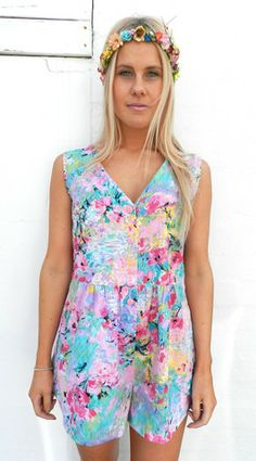 Be The Barbie Playsuit | BOSTLTD #PLaysuit #pastels #flowers