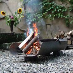 Buschbeck Langgrill BBQ Firepit Bassalt - Corten Steel