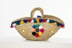 Sicilian  Straw Basket - Capri Collection