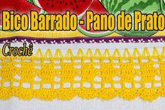 Mais um modelo de Bico/Barrado para pano de prato vamos fazer?   https://youtu.be/RsgdEsytQ-g #crochet #professorasimone #semprecirculo