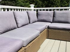 How to Weatherproof Your Outdoor Cushions >> http://blog.diynetwork.com/maderemade/2015/06/15/bring-those-indoor-cushions-outside/?soc=pinterest