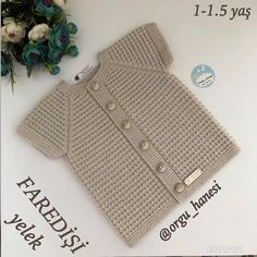 90 Göz 16 On 10 Kol 26 Arka Artırmalar 2 - Diy Crafts - Marecipe westen häkeln Baby Knitting Patterns, Crochet Vest Pattern, Knitting For Kids, Easy Knitting, Baby Patterns, Knitted Baby Cardigan, Hand Knitted Sweaters, Baby Sweaters, Diy Crafts Knitting