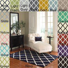 New Hand Hooked Alexa Moroccan Trellis Wool Spun Area Rug 7'6 x 9'6 Country Look | eBay