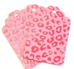Pink Leopard Print Extra Large Gift Tags  set by SW8PaperAndStuff, $1.00