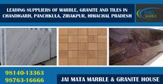 If you are looking for leading suppliers of #Marble, #Granite and #Tiles in #Chandigarh, #Panchkula, #Zirakpur, #Himachal_Pradesh and more then Jai Mata Marble & Granite House is the right destination for you. At jmg.co.in, we are offering an extensive variety of natural stones in Pan India at affordable price. Call now @ 098140-13363, 098763-16666