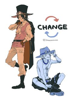 ONE PIECE, Sabo, Portgas D. Ace, Outfit Switch, Sabo (Cosplay), Portgas D. Ace (Cosplay)