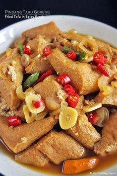 Pindang Tahu Goreng – Fried Tofu in Spicy Broth