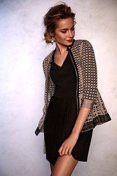 cross knit dress #anthrofave