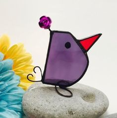 Image result for how to make a free standing stained glass bird #StainedGlassHowToMake