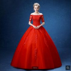 2016 new arrival ball gown red wedding dress lace appliques beading latest  wedding gowns off the edddc8f49885