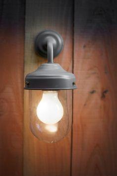 "Buitenlamp ""Barn Light"" Charcoal | Wandlamp Donkergrijs"