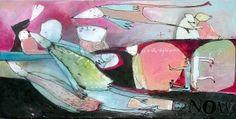 it's the right place; acryl op doek 40 cm x 80 cm . Zie www.mus-atelier.nl