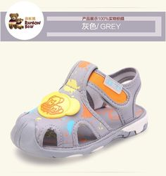 (Buy Two Get Third One Free)New Baby Grey Pure Cotton Baby Sandals:17-21 #RainbowBear #Sandals