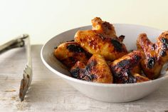 Peach or Apricot Lacquered Chicken Wings Photo by Romulo Yanes