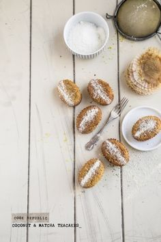 Coconut And Matcha Teacakes