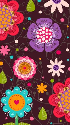 Phone wallpaper, cellphone wallpaper, wallpaper for your phone, flower wall Colorful Wallpaper, Flower Wallpaper, Pattern Wallpaper, Wallpaper Backgrounds, Cellphone Wallpaper, Iphone Wallpaper, Phone Background Patterns, Cute Wallpapers, Pattern Design