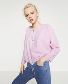 STRIPED TOP WITH ZIP-Tops-STARTING FROM 50% OFF-WOMAN-SALE | ZARA United States