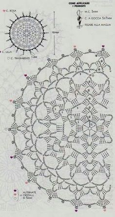 New crochet mandala pattern charts Ideas Motif Mandala Crochet, Crochet Circles, Crochet Doily Patterns, Crochet Chart, Thread Crochet, Love Crochet, Irish Crochet, Crochet Designs, Crochet Stitches