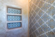 Strongly influenced by Moorish and Spanish design, the Isabella Mural by StoneImpressions beautifully depicts the feelings and influences of Mediterranean designs. Spanish Design, Mediterranean Design, Shower Niche, Moorish, Tile Patterns, Tile Floor, Tiles, Stone, Bathroom