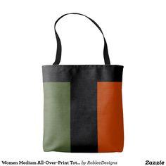 Women Medium All-Over-Print Tote Bag #fashion
