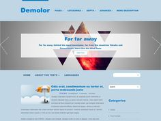 Demolor is the easiest way to build a website for free as fast as possible. It attracts at first sight - calm blue colors, rounded and flat alike, all that makes visitors focused on the key elements of your webpage. Social Bar, Seo Optimization, Themes Free, Responsive Web Design, Building A Website, Blue Colors, Premium Wordpress Themes, Texts, Calm