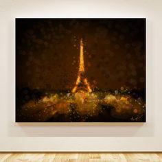 Tela: Torre Eiffel Arte: Thiago Christo