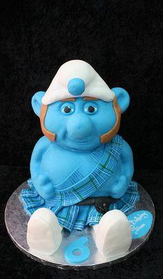 scottish smurf cake