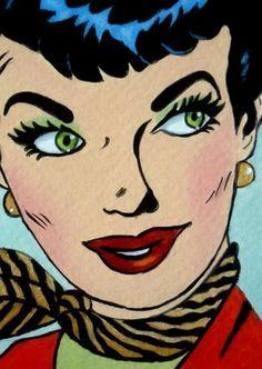 Julies retro Art page: Beautiful comic girls