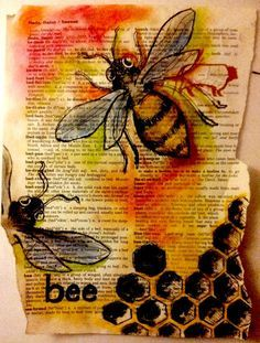 #savethebees take a page of the dictionary, choose a word on the page and create a composition around that word.