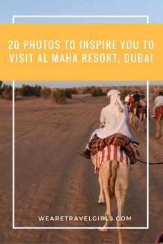 20 PHOTOS TO INSPIRE YOU TO VISIT AL MAHA RESORT, DUBAI! Located deep within an enchanting dune landscape in the Dubai Desert Conservation Reserve, just an hour outside of the bustling city of Dubai, you'll find the quiet desert escape of Al Maha Resort & Spa. You'll drive through miles of nothing but sand dunes as far as the eye can see, and then you will reach the gates of Al Maha, a 5-star resort nestled in a magical palm oasis, worlds away from everything you are use to. By Vanessa…