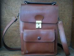 Vintage Brown Bag with Top Handle and Shoulder by EnglishShop, $59.00