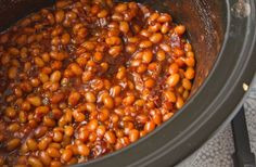 Crock Pot Baked Beans From Scratch - http://healthyrecipesideas.com/crock-pot-baked-beans-from-scratch/