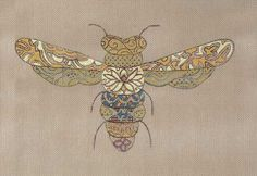 Needlepoint Barbara Elmore Designs  Fanciful Flyer Bee